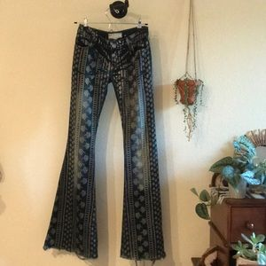 Free people mantra printed flares size 24
